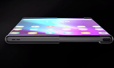New tech  gadgets  gizmos  hi tech  I got a look at this wild phone principle that has a rollable screen that slides out, transforming it into a tablet