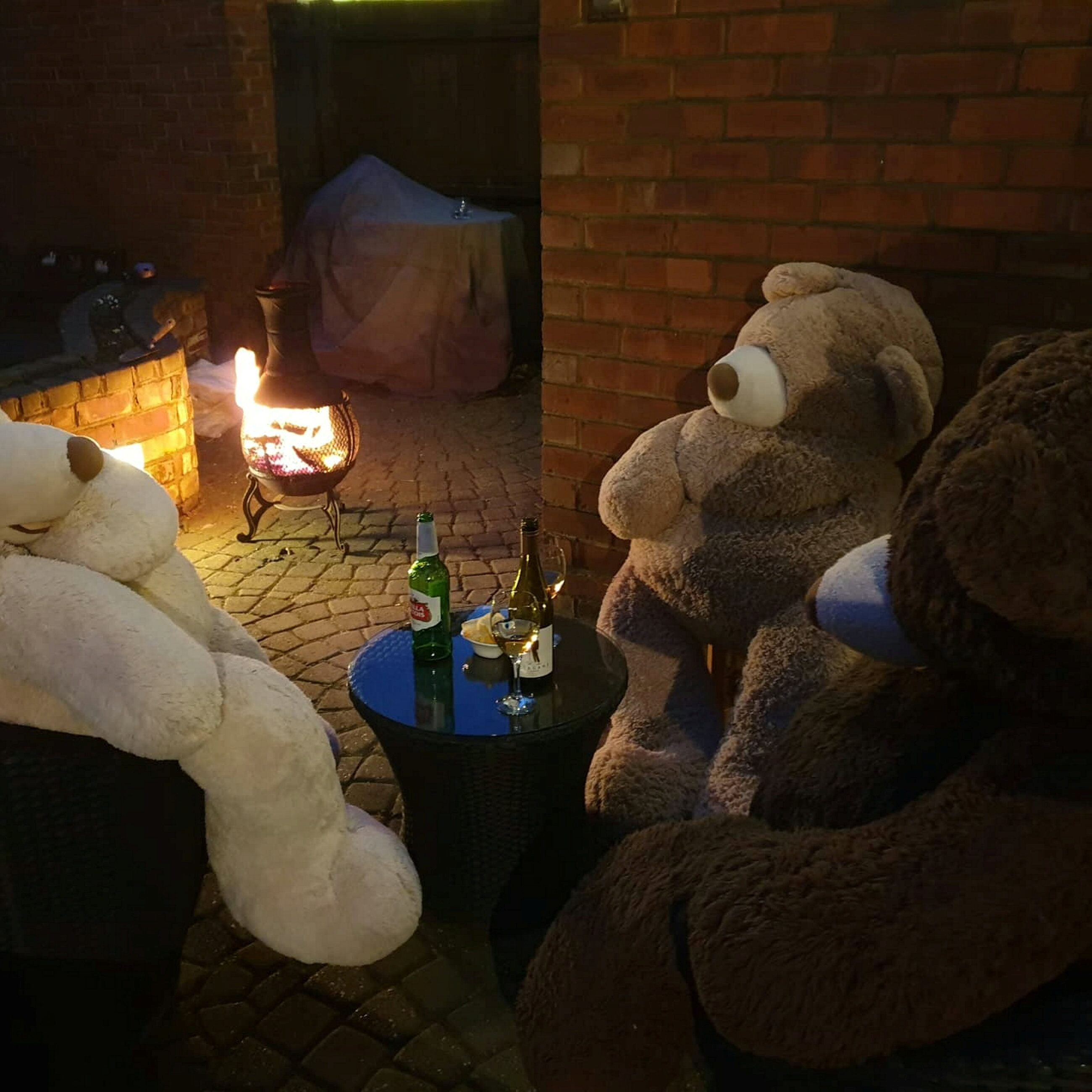 Gardening Coronavirus quarantine: Mom entertains household by posing giant teddy bears around home