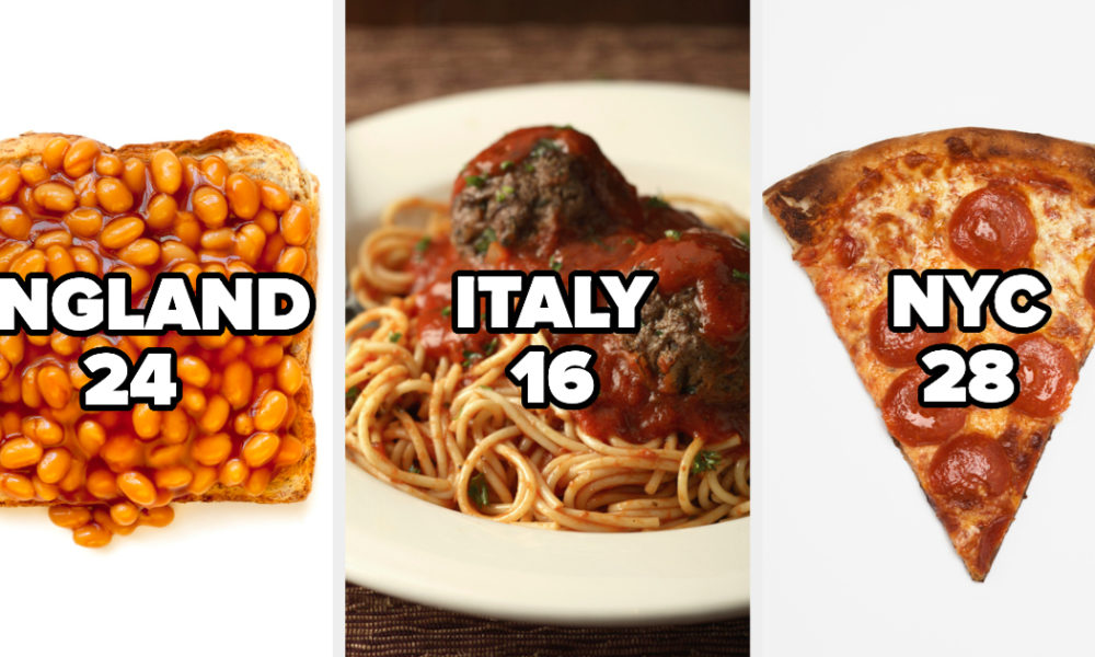 Recipes Can We Think Your Precise Age And Geographical Area With This Food Test?