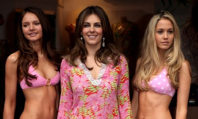 Gardening Elizabeth Hurley, 54, lifts weights in a swimwear: 'Everyday'
