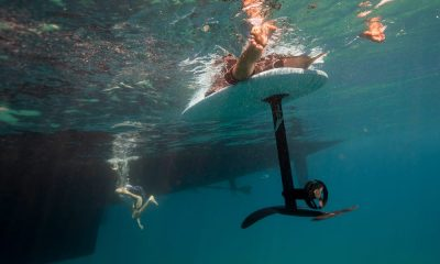 New tech  gadgets  gizmos  hi tech  Take a better look at the $12,000 electric surf board a sunscreen-covered Mark Zuckerberg rode in Hawaii: the Lift efoil (FB)